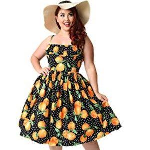Bernie Dexter black oranges Paris swing dress